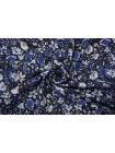 ОТРЕЗ 0,5 М Плательный лен синий цветочный PRT-E6 19032007-1
