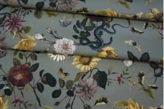 Хлопок органический цветы и змеи PRT 19032036