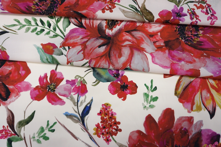 Хлопок органический с цветочками PRT-A50 19032038