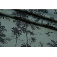 ОТРЕЗ 2,4 М Штапель-сатин пальмы PRT-(34)- 20032011-2