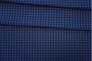 Хлопок рубашечный в клетку черно-синий PRT-E4 06052002