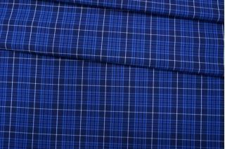 Хлопок рубашечный в клетку синий PRT-E4 06052007