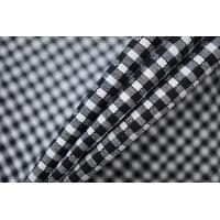 Хлопок рубашечный в клетку черно-белый PRT-E4 08052005