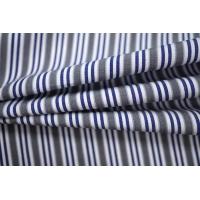 Поплин рубашечный в бело-серо-синюю полоску PRT-E4 22052010