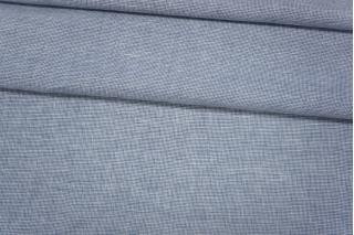 Лен с хлопком пепита бело-голубая PRT-Е6 21012011