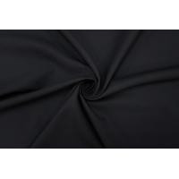 Костюмная шерсть дабл би-стрейч черная PRT-F2 13012009
