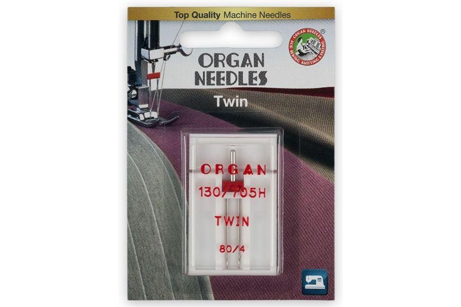 Иглы Organ двойные 130/705H №80/4 Blister WT 30012001