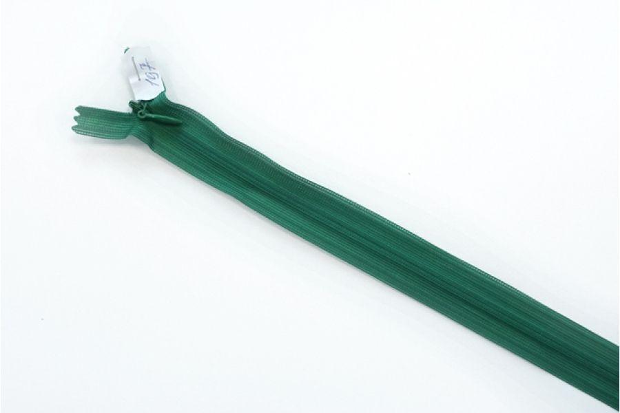 Молния насыщенно-зеленая потайная 50 см SBS WT-(F) 197