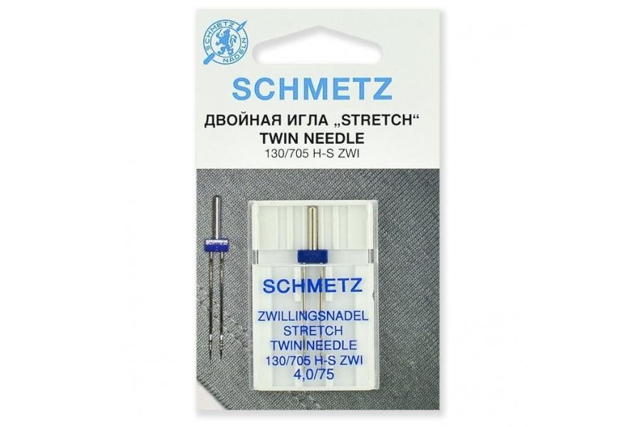 Швейные иглы стретч двойные SK SCHMETZ 130/705 H-S №75/4.0 69:40.FB2.SMS