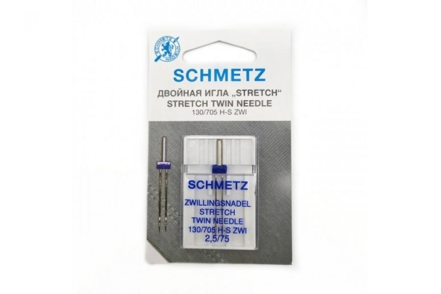 Швейные иглы стретч двойные SK SCHMETZ 130/705 H-S №75/2,5 69:25.FB2.SMS