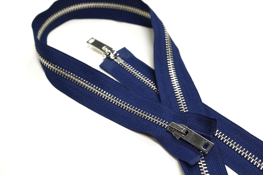 Молния металл синяя разъёмная двухзамковая 88 см D21 01012113