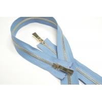 Молния металл голубая разъёмная двухзамковая 90 см 01012115