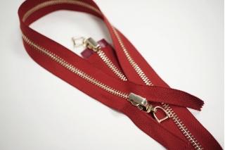 Молния металл темно-красного разъёмная двухзамковая 71 см 01012123