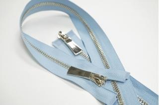Молния металл голубая разъёмная двухзамковая 66 см 01012126