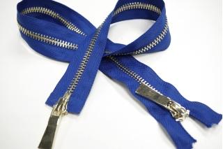 Молния металл синяя разъёмная двухзамковая 54 см 01012127