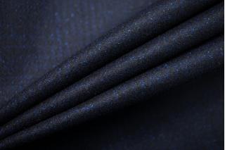 Костюмная шерсть темно-синяя в клетку SR-D6 11012177