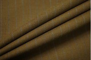 Тонкая костюмно-плательная шерсть болотная в полоску SR-D3 11012178