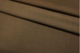 Тонкая костюмно-плательная шерсть коричневая TXH-D3 11012180