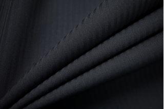 Тонкая костюмно-плательная шерсть черная в полоску SR-D4 11012186