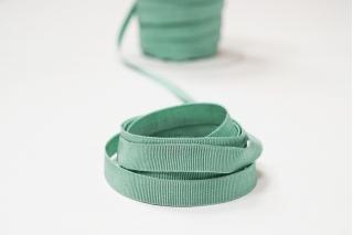 Лента репсовая зелено-бирюзовая 1 см PRT 12042106