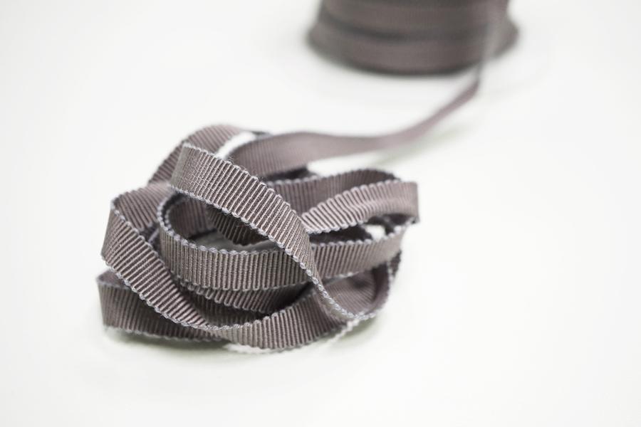 Лента репсовая темно-серая 1 см PRT 12042109