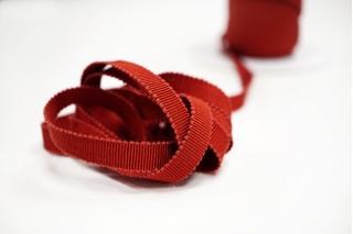 Лента репсовая темно-красная 1 см PRT 12042110