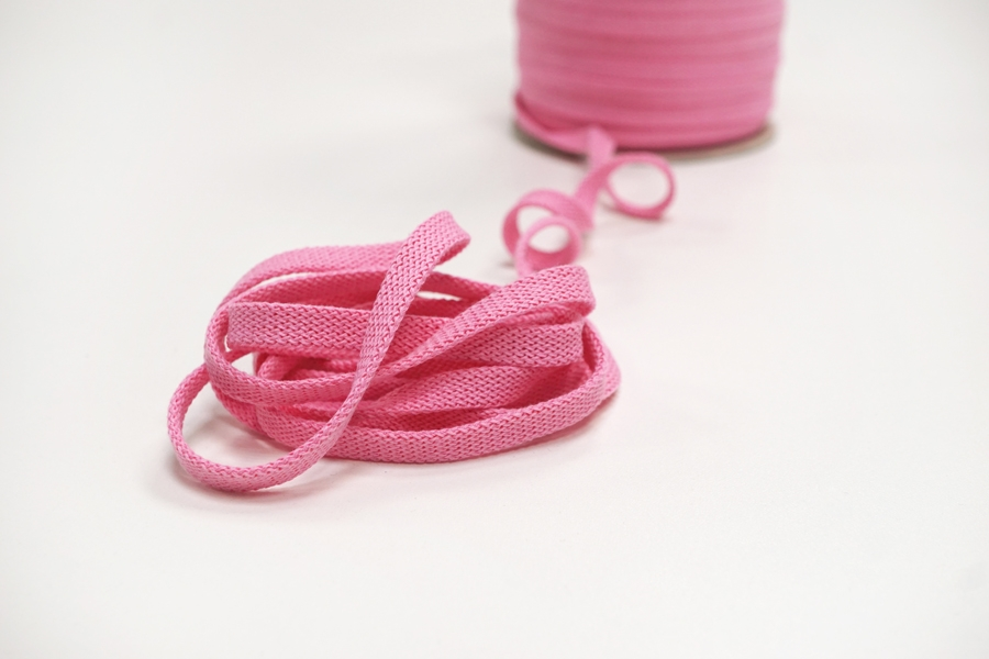Шнур плоский розовый 0,8 см PRT-KR-2D 12042116