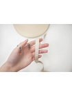 Лента киперная молочная с белым принтом 1,5 см PRT-LA-60 12042159