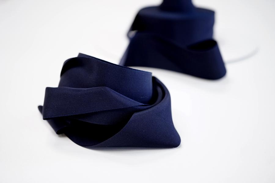 Лента репсовая темно-синяя 4 см PRT 12042161