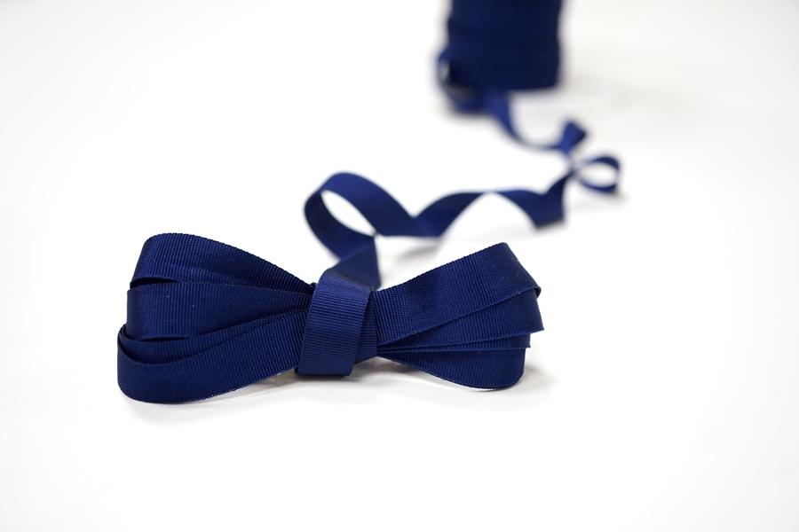 Лента репсовая темно-синяя 1 см PRT 12042168
