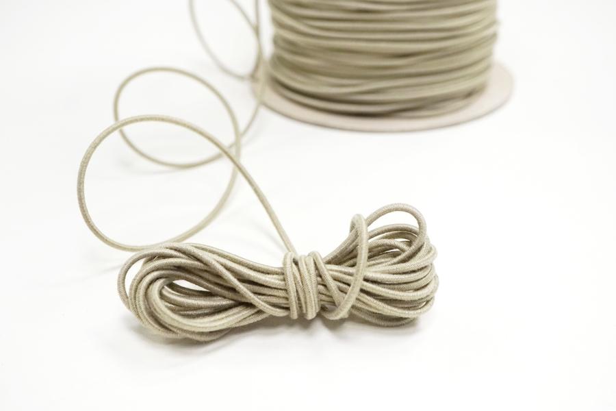Резинка шляпная бледная бежево-оливковая 2 мм 13012117