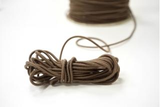Резинка шляпная светло-коричневая 2 мм 13012132