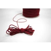 Резинка шляпная темно-красная 1,5 мм 13012143
