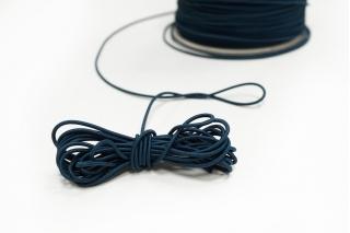 Резинка шляпная лазурно-синяя 1,5 мм 13012149