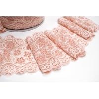 Кружево розовато-кирпичное KR 17022121