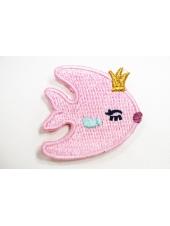 """Нашивка """"розовая рыбка"""" 22022103"""