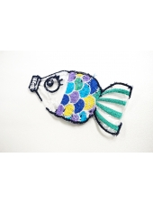 "Нашивка ""разноцветная рыбка"" 22022110"