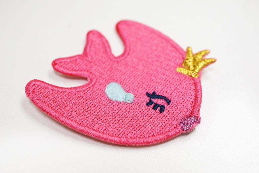 """Нашивка """"ярко-розовая рыбка"""" 22022113"""