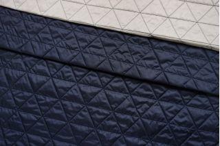 Курточная стежка на утеплителе двусторонняя синий-бежевый TRC-C6 25012102