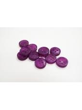 Пуговица  костюмно-плательная пластик перламутр фиолетовая 11 мм PRT-03032156