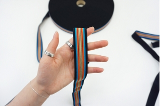 Эластичная резинка 27 мм  мультицвет PRT-SH-C40 03062101