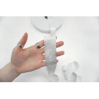 Эластичная резинка 3,5 см белая с серебряной нитью PRT 03062109