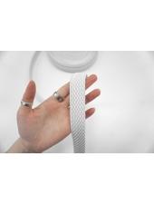 Тесьма-резинка 3 см белая PRT 03062112