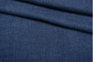 Лен костюмно-плательный синий в елочку Ralph Lauren CMF-H7 10022101
