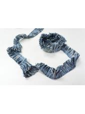Тесьма черно-бело-синяя KR 18022114