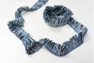 Тесьма черно-бело-синяя KR-6A 18022114
