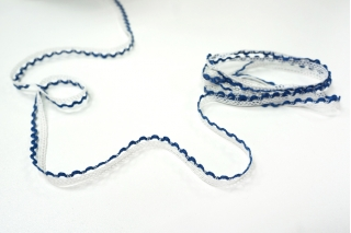 Кружево бело-синее KR 18022117