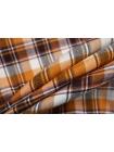 Лен костюмно-плательный в клетку оранжевый NST-E60 19022103