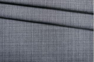 Хлопок костюмный со льном в клетку черно-белый IDT-D60 19022119