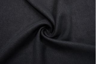 Лен тяжелый костюмный черный BRS-D70 19022128